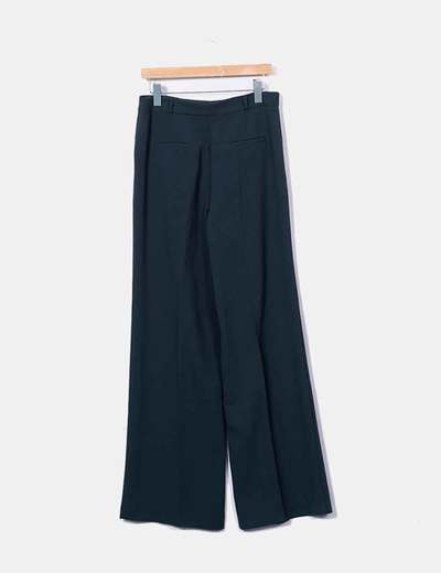 Pantalon chino verde texturizado