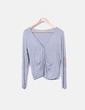 Chaqueta tricot gris con coderas NoName