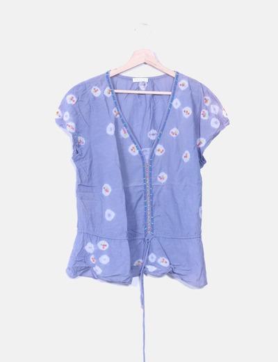 Blusa con abalorios de colores