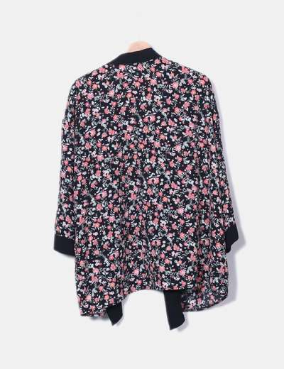 Kimono negro estampado