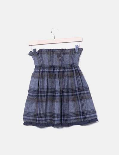 2a467fa6452 Zara Falda cuadros gris (descuento 79%) - Micolet