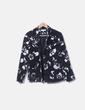 Traje pantalón y chaqueta pana floral Gloria Brizio