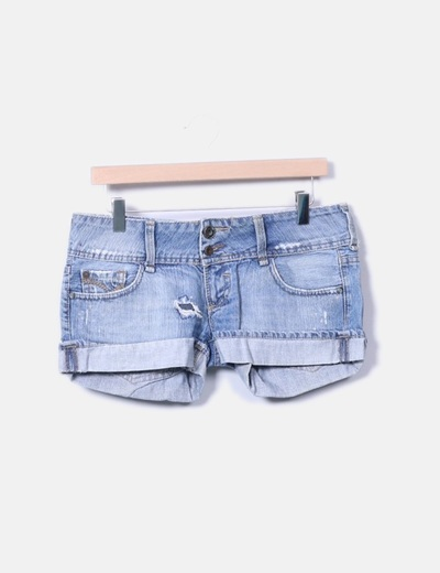 Short denim rotos