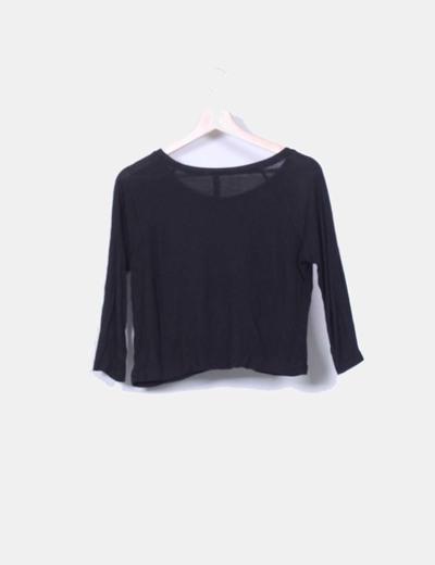 Camiseta negra print lunas