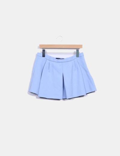 17f9c8541 Falda de tablas azul cielo