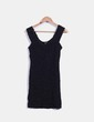 Vestido negro texturizado de tirantes Forever 21