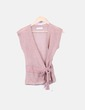 Torera tricot color rosa palo Topshop