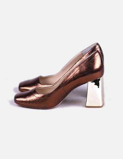 Zara Tacón Micolet 73 Dorado descuento Zapato Ancho wT4OqCw