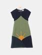 Vestido tricolor de lana Divina Providencia