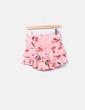 Falda rosa estampada volantes Zhi Da