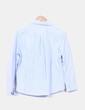 Camisa de cuadros azul Zara