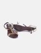Zapato dorado con lazo Marypaz