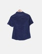 Camisa azul marina de manga corta Yessica