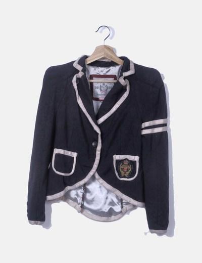Blazer azul marino tricot