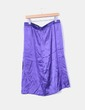 Vestido satinado azul klein estampado NoName