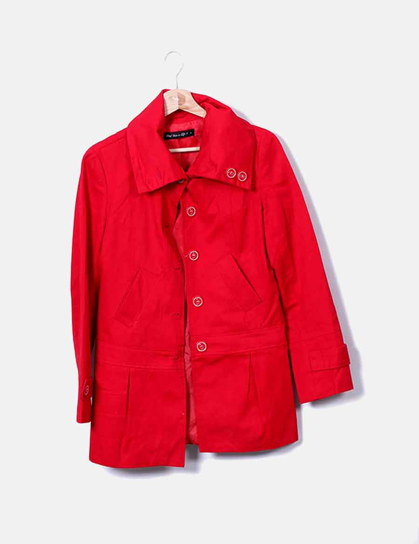 Lefties Mujer Y Baratos Chaqueta Roja Texturizada Abrigos Chaquetas dAq55wX