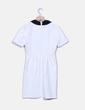 Vestido blanco con cuellos negros Suiteblanco