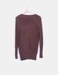 Cárdigan tricot marrón oscuro Zara