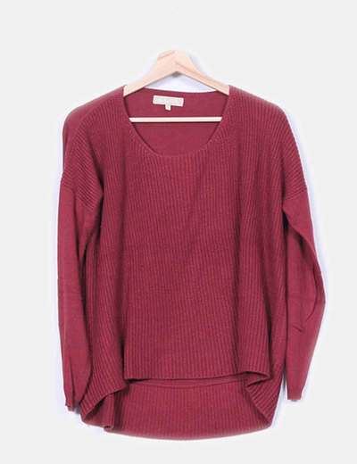 Suéter burdeos punto combinado  Southern Cotton