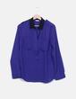 Camisa azul klein con cuellos negros Miao