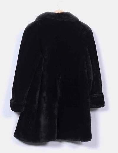 fotos oficiales 7c290 f2f29 Abrigo de pelo sintético negro