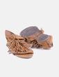 Sandalia marrón con flecos NoName
