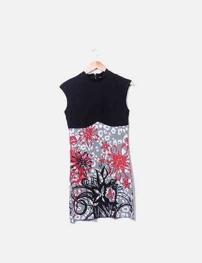 Vestido midi tirantes print floral