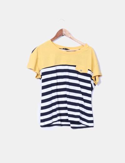 Camiseta tricolor de rayas Mango