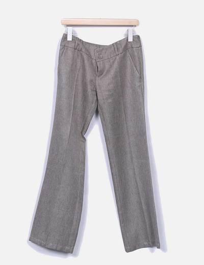 Pantalon de traje recto marron Zara