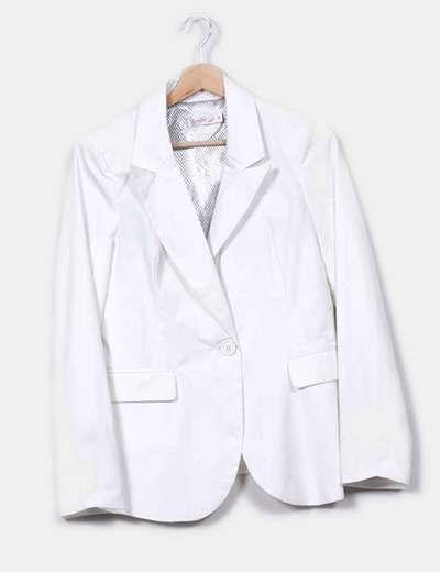 Blazer blanca con botón Sophyline  & Co