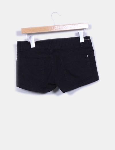 Short negros basicos detalles bolsillos
