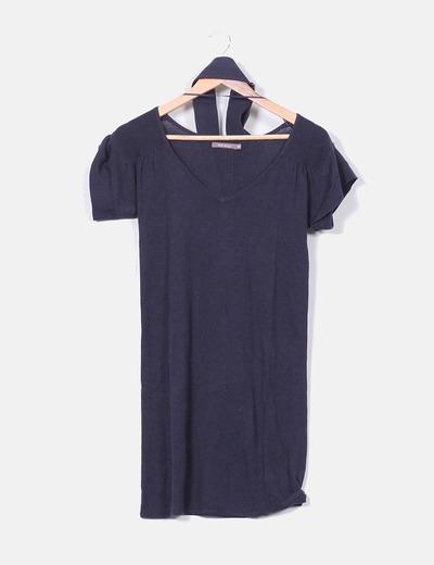 Vestido tricot azul marino Easy Wear