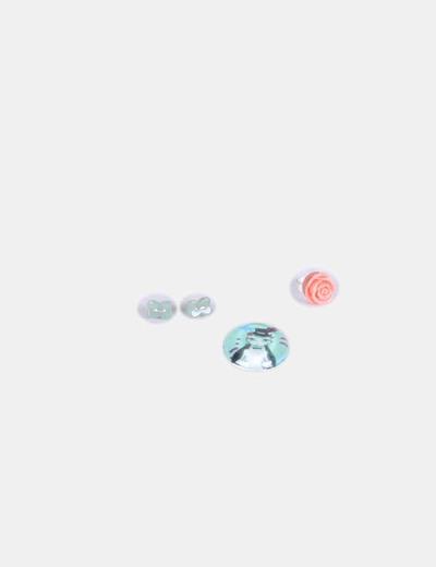 Conjunto de colgante, pendientes y anillo NoName
