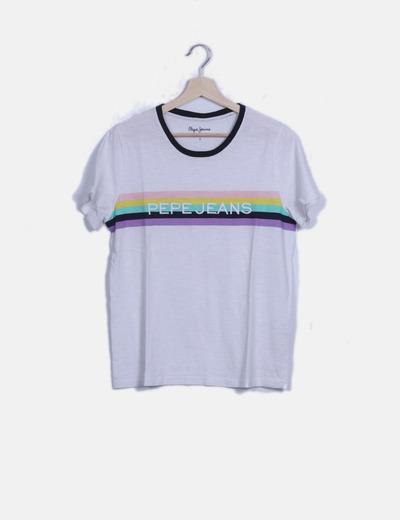 Camiseta blanca rayas