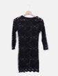 Vestido negro de encaje semitransparente Asos
