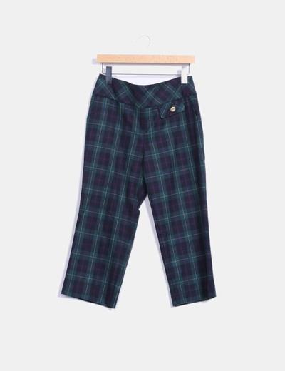Pantalon écossais culotte Bouclé