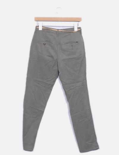 Pantalon recto verde