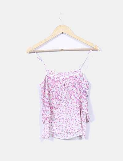 Blusa floral doble capa