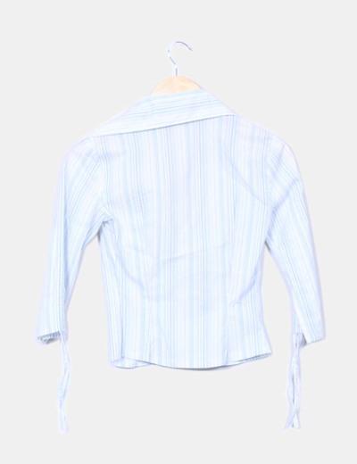Blusa de rayas drapeada