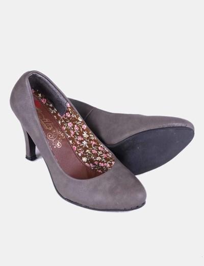Zapato taupe punta redonda