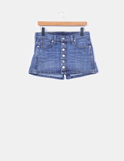 Mini falda denim abotonada Levi's