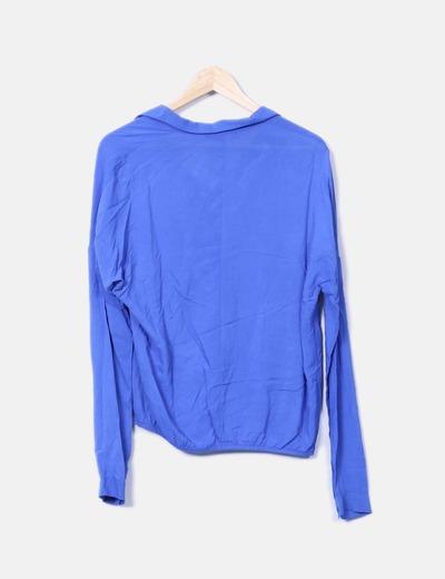 Blusa azul klein fluida