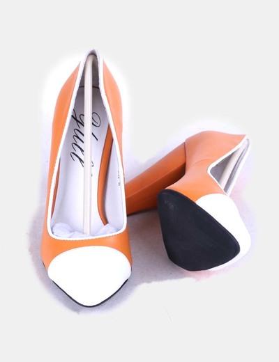 Zapatos heels beaulieu naranja