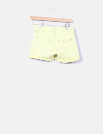 Short denim amarillo