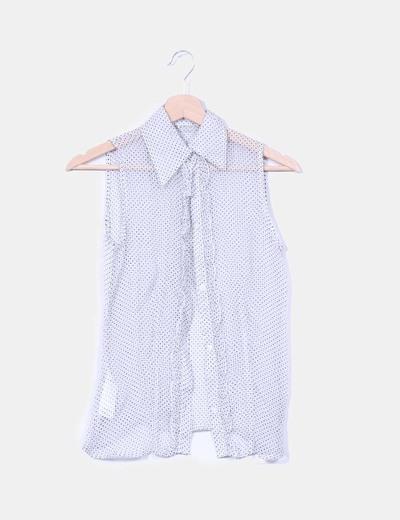 Blusa con chorrera de seda C2C