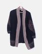 Kimono tricot azul marino combinado Zara