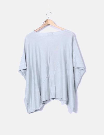 Camiseta de punto verde oversize