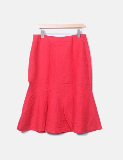 Red midi skirt NoName
