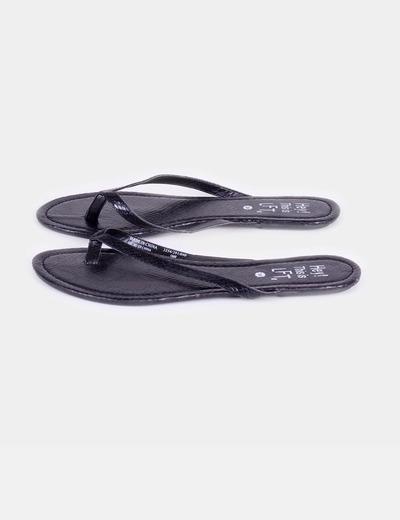 Sandalias negras de dedo Lefties