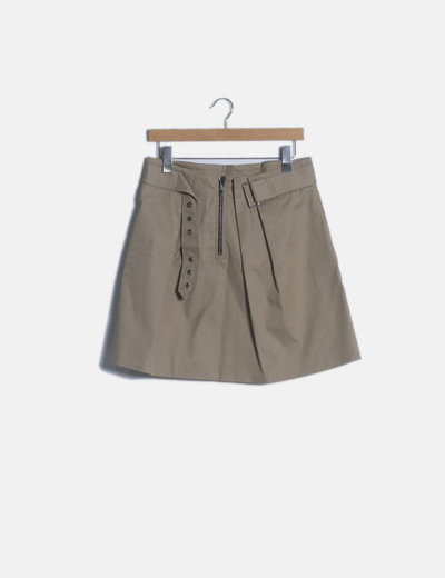 Mini falda camel cinturón